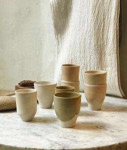 Piezas de cerámica artesanal